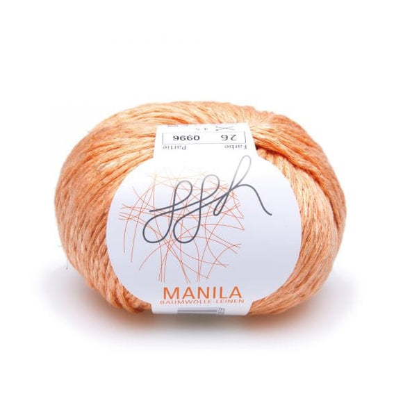 ggh Manila 026 Tangerine, Cotton, Linen & Viscose blend, 50g, - I Wool Knit