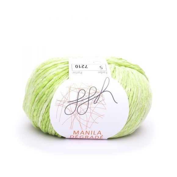 ggh Manila Dégradé 005, Kiwi-Limette, Cotton, Linen & Viscose blend, 50g, - I Wool Knit