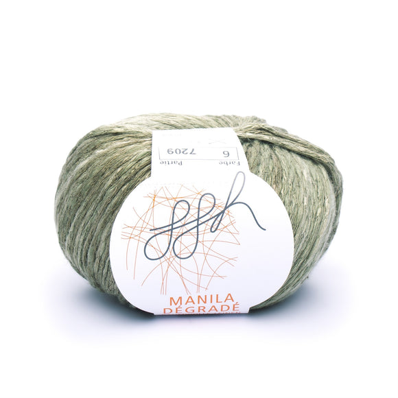 ggh, Manila Dégradé 006, Olive-Khaki, Cotton, Linen & Viscose blend, 50g, - I Wool Knit