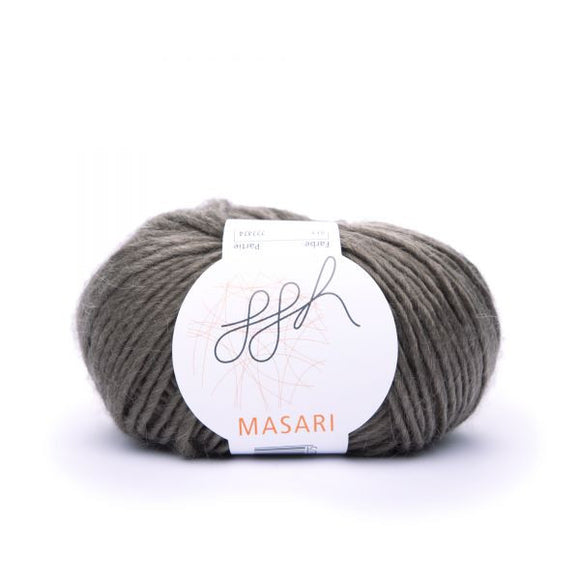 ggh Masari 012 Brown, Mohair, Merino wool and Silk, 50g - I Wool Knit