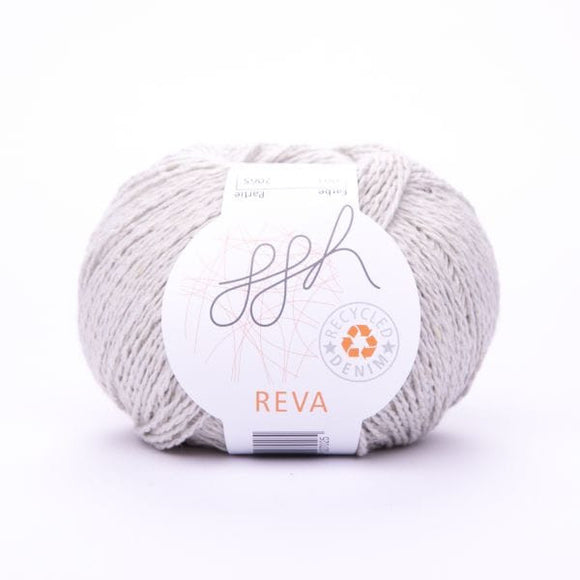 ggh Reva 001 Putty, Recycled Denim Cotton Yarn, 50g - I Wool Knit