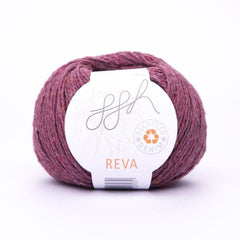 ggh Reva in bordeaux red, recycled denim yarn - I Wool Knit