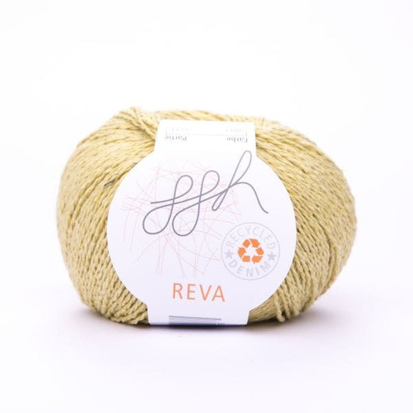 ggh Reva 007 Straw Yellow, Recycled Denim Cotton Yarn, 50g - I Wool Knit