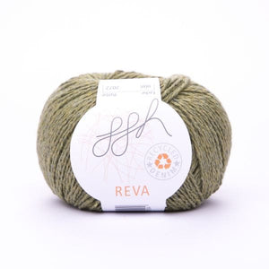 ggh Reva 008 Olive, Recycled Denim Cotton Yarn, 50g - I Wool Knit