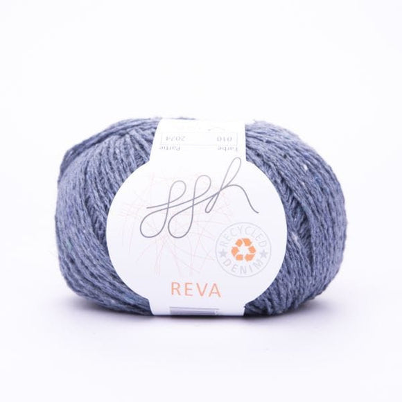 ggh Reva 010 Jeans, Recycled Denim Cotton Yarn, 50g - I Wool Knit