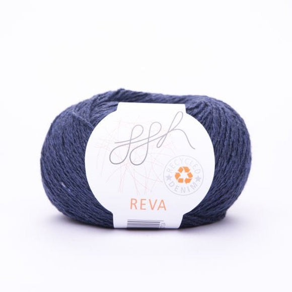 ggh Reva 011 Navy, Recycled Denim Cotton Yarn, 50g - I Wool Knit