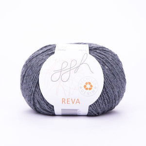 ggh Reva 012 Slate, Recycled Denim Cotton Yarn, 50g - I Wool Knit