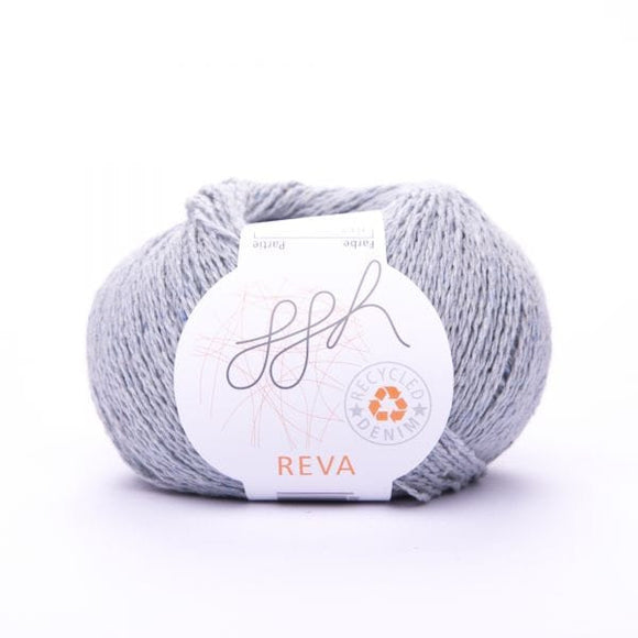 ggh Reva 013 Light Grey, Recycled Denim Cotton Yarn, 50g - I Wool Knit