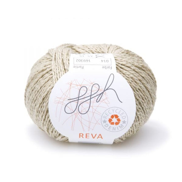 ggh Reva 014 Beige, Recycled Denim Cotton Yarn, 50g - I Wool Knit