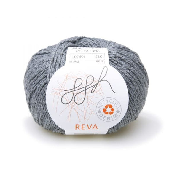 ggh Reva 015 Stonewashed, Recycled Denim Cotton Yarn, 50g - I Wool Knit