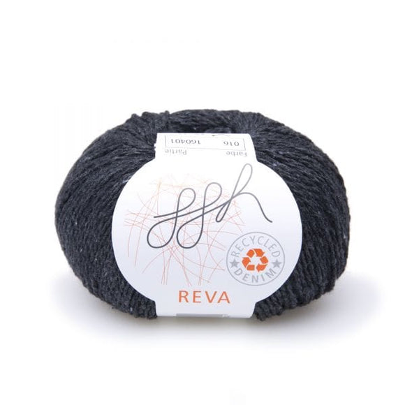 ggh Reva 016 Anthracite, Recycled Denim Cotton Yarn, 50g - I Wool Knit