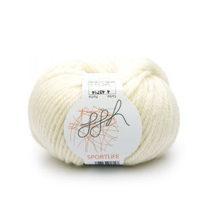 ggh Sportlife 004 ecru (wool-white), superwash wool, 50g - I Wool Knit