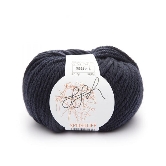 ggh Sportlife 009 Navy, superwash wool, 10ply, 50g - I Wool Knit