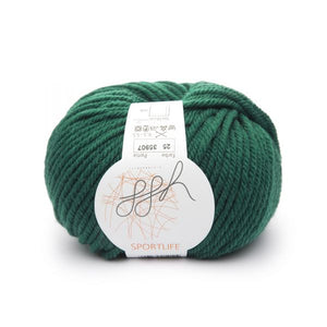ggh Sportlife 025 bottle green, superwash wool, 10ply, 50g - I Wool Knit