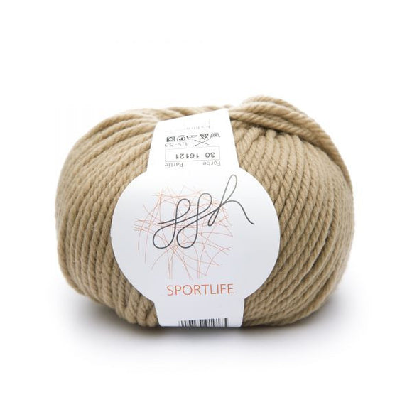 ggh Sportlife 030 cinnamon & sugar, wool, 10ply, 50g - I Wool Knit