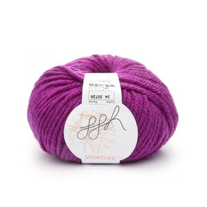 ggh Sportlife 034 fuchsia, superwash wool, 10ply, 50g - I Wool Knit