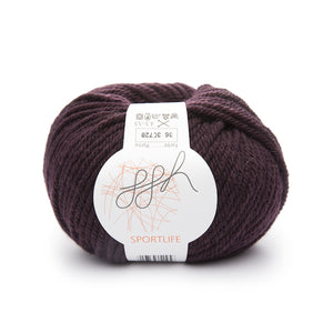 ggh Sportlife 036 eggplant, superwash wool, 10ply, 50g - I Wool Knit