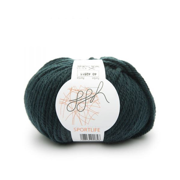 ggh Sportlife 040 dark green, superwash wool, 50g - I Wool Knit