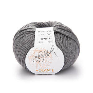 ggh Volante 009 grey, Merino with cotton, 50g - I Wool Knit