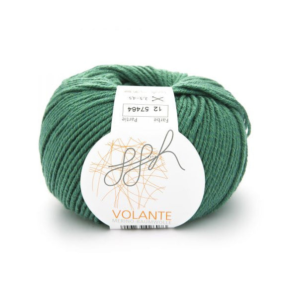 ggh Volante 012 green, Merino with cotton, 50g - I Wool Knit