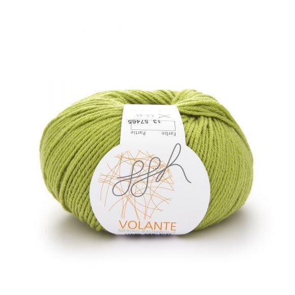 ggh Volante 013 apple green, Merino with cotton, 50g - I Wool Knit