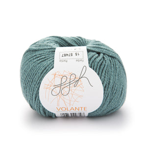 ggh Volante 015 frost green, Merino with cotton, 50g - I Wool Knit