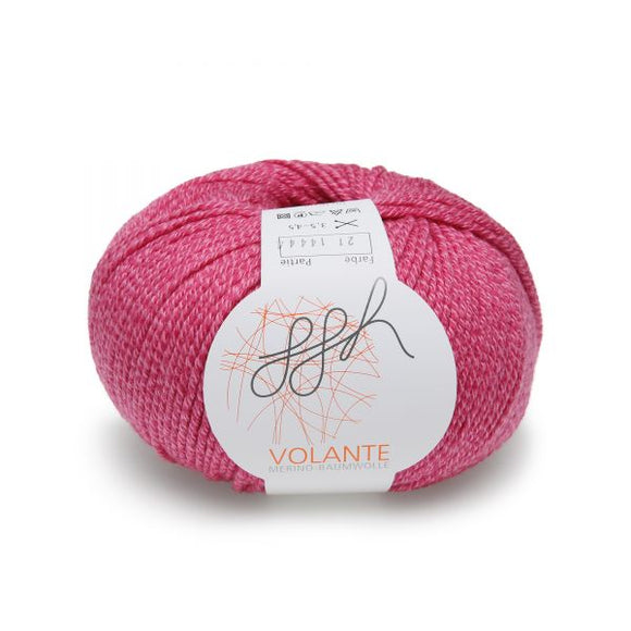 ggh Volante 021 raspberry, Merino with cotton, 50g - I Wool Knit