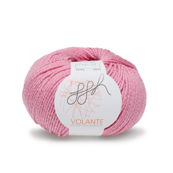 ggh Volante 022 pink, Merino with cotton, 50g - I Wool Knit