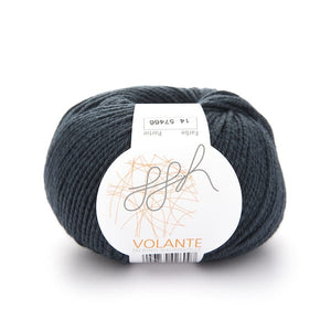ggh Volante knitting yarn Merino and cotton, dark petrol - I Wool Knit
