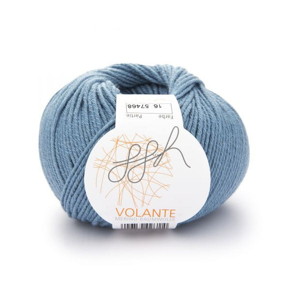 ggh Volante 016,  ice blue, Merino with cotton, 50g - I Wool Knit