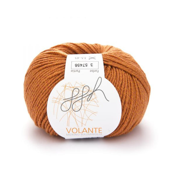 ggh Volante 003, copper, Merino with cotton, 50g - I Wool Knit