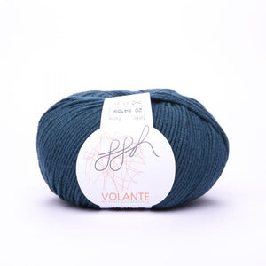 ggh Volante 020, petrol, Merino with cotton, 50g - I Wool Knit