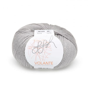 ggh Volante 028 light grey, Merino with cotton, 50g - I Wool Knit