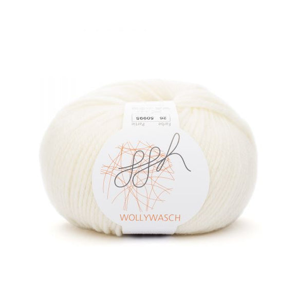 ggh Wollywasch 026, ecru (wool white),  8ply, 50g - I Wool Knit