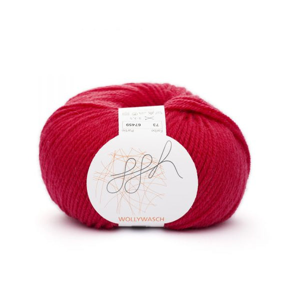 ggh Wollywasch 073, bright red,  8ply, 50g - I Wool Knit