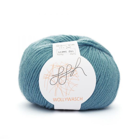 ggh Wollywasch 182, mosaic blue, 8ply, 50g - I Wool Knit