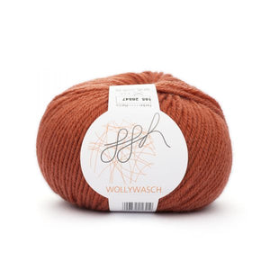 ggh Wollywasch 185, burnt rust red, 8ply, 50g - I Wool Knit