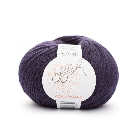 ggh Wollywasch 193, dark plum, 8ply, 50g - I Wool Knit