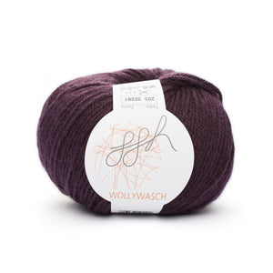 ggh Wollywasch 203, eggplant, 8ply, 50g - I Wool Knit
