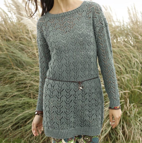Rebecca Lacy summer jumper in ggh Reva - I Wool Knit