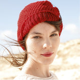 Hat in seed stitch in ggh Linova - Rebecca Knit Kit - I Wool Knit