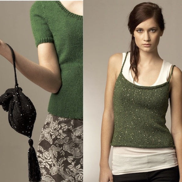 Jo Sharp, Lumina Singlet and Purse - Pattern Leaflet 051 - I Wool Knit