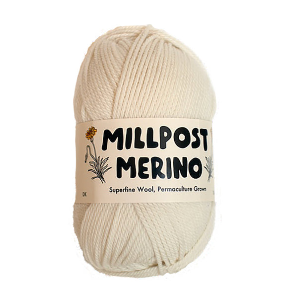 Millpost Merino 011, natural, 4ply, 50g - I Wool Knit