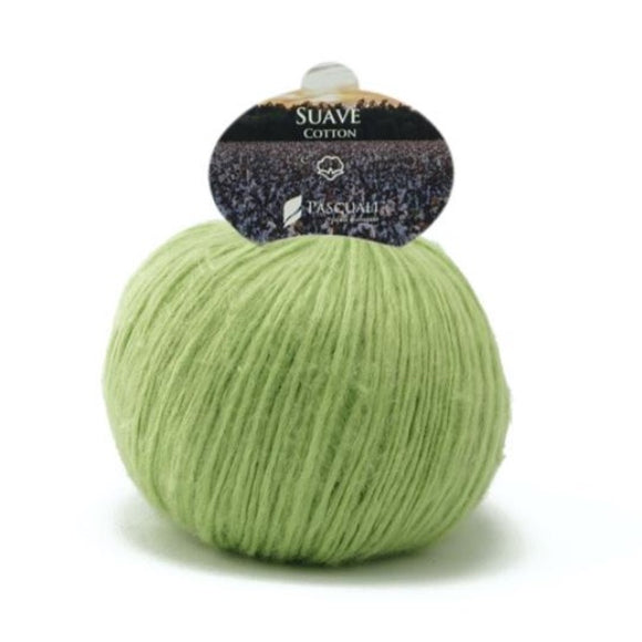 Pascuali Suave 94 lime, cotton yarn with cashmere feel, 25g - I Wool Knit