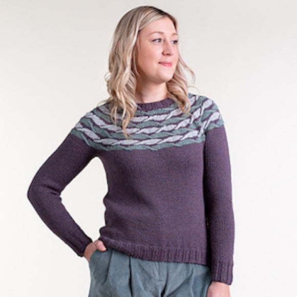 'Upstream' Sweater in KDD Àrd-Thìr - Kate Davies Designs Yarn Pack - I Wool Knit