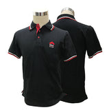 ERA Men Black Lycra Polo Tee