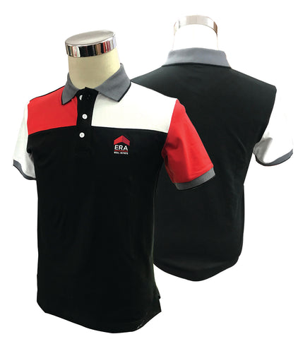 NEW! 2018 Multi Color Black Lycra Polo Tee (Men)