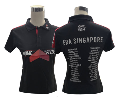 NEW! 2020 ERA Singapore Ladies Black Polo