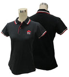 2017 Ladies Lycra Black Polo Tee