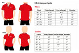 ERA Ladies Red Lycra Polo Tee